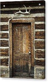 Rustic Cabin Door Acrylic Print by John Stephens