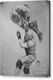 Acrylic Print featuring the drawing Ryback by Justin Moore