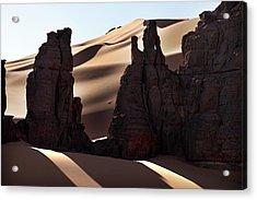 Saharan Rock Formations Acrylic Print by Martin Rietze