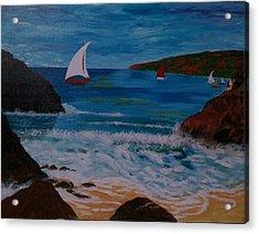 Sails Acrylic Print by Judi Goodwin