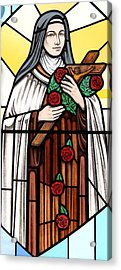 Saint Therese Of Lisieux Acrylic Print by Gilroy Stained Glass