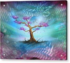 Sakura Acrylic Print by Luis  Navarro