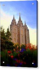 Salt Lake City Lds Temple Acrylic Print