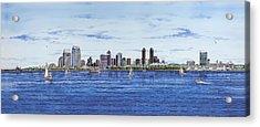 San Diego Skyline Acrylic Print by John YATO