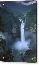 San Rafael Falls On The Quijos River Acrylic Print by Pete Oxford