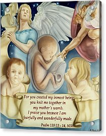 Sanctity Of Life Acrylic Print by Rich Milo