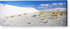 Sand Dunes In A Desert, White Sands Acrylic Print by Panoramic Images