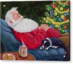 Santa And Breagh Acrylic Print by Fran Brooks