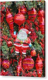 Santa Claus Balloon Acrylic Print by George Atsametakis