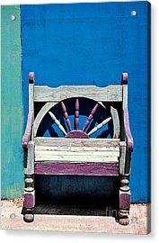 Santa Fe Chair Acrylic Print by Elena Nosyreva