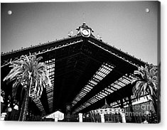Santiago Central Railway Station Chile Acrylic Print by Joe Fox