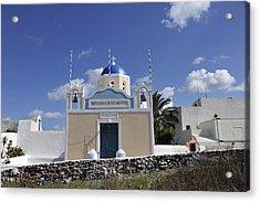 Acrylic Print featuring the photograph Santorini Greece by John Jacquemain
