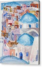Santorini Splendor Acrylic Print