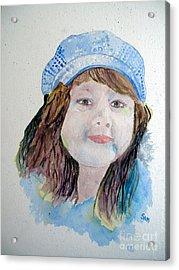 Sarah Acrylic Print by Sandy McIntire
