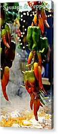 Acrylic Print featuring the photograph Sausage And Peppers by Lilliana Mendez