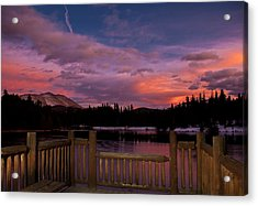 Sawmill Lake Sunset Acrylic Print by Michael J Bauer