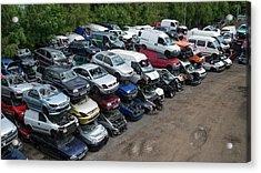 Scrap Cars Acrylic Print by Robert Brook