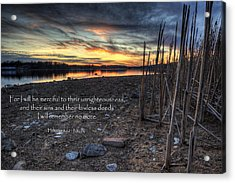 Scripture Photo Acrylic Print