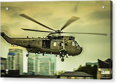Sea King Helicopter Acrylic Print by Dawn OConnor