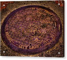 Seattle Manhole Cover Acrylic Print by David Patterson