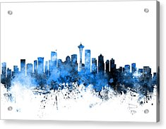 Seattle Washington Skyline Acrylic Print