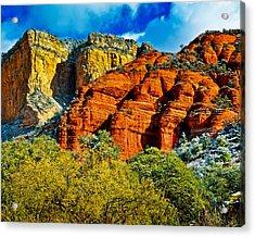 Acrylic Print featuring the photograph Sedona Arizona - Wilderness Area by Bob and Nadine Johnston