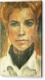 Self Portrait Acrylic Print by Janet Kearns