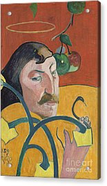 Self Portrait Acrylic Print by Paul Gauguin