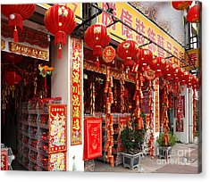 Selling Decorations For The Chinese New Year Acrylic Print by Yali Shi