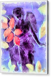 Send Me An Angel 3 Acrylic Print by Angelina Vick