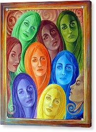 Serene Sisters Acrylic Print
