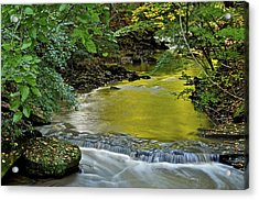 Serene Stream Acrylic Print by Frozen in Time Fine Art Photography