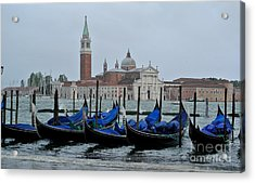 Servizio Gondole Acrylic Print by Sarah Christian