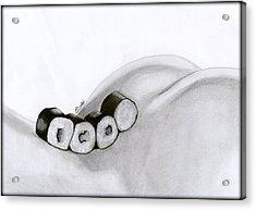Sexy Rolls Acrylic Print by Saki Art
