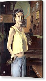 Acrylic Print featuring the painting Shannon by G Linsenmayer