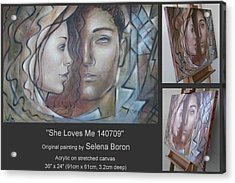 Acrylic Print featuring the painting She Loves Me 140709 by Selena Boron