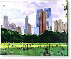 Sheep Meadow Acrylic Print