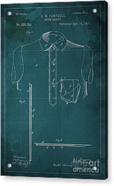 Shirt Pocket Blueprint Patent Acrylic Print by Pablo Franchi