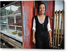 Shopkeeper With Leprosy Acrylic Print
