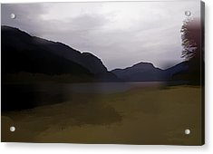 Shore Of A Loch In The Scottish Highlands Acrylic Print