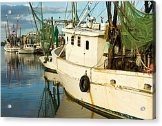 Shrimp Boats Acrylic Print by Denis Lemay
