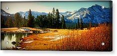 Sierra Panorama Acrylic Print by Lynn Bawden