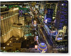 Sin City Acrylic Print by Eddie Yerkish