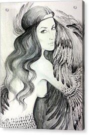 Siren Acrylic Print by Roksolana Tchotchieva