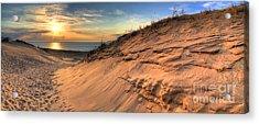 Sleeping Bear Dunes Sunset Acrylic Print by Twenty Two North Photography