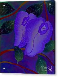 Acrylic Print featuring the digital art Sleeping Beauties by Latha Gokuldas Panicker