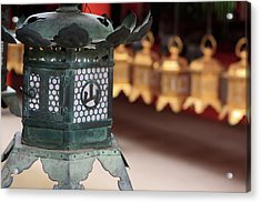 Smaller Metal And Gold Lanterns Acrylic Print by Paul Dymond