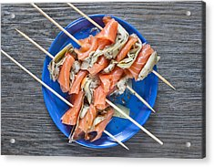 Smoked Salmon And Grilled Artichoke Acrylic Print by Tom Gowanlock