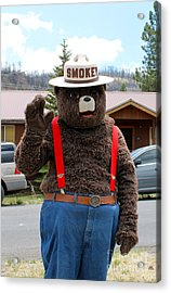 Smokey The Bear Acrylic Print
