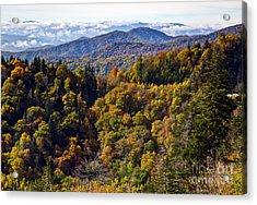 Smoky Mountain Color II Acrylic Print by Douglas Stucky